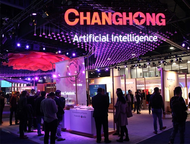 Changhong's CES booth