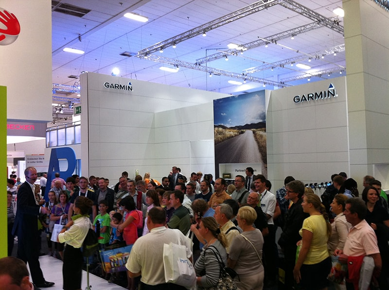 Product demo at TomTom's booth