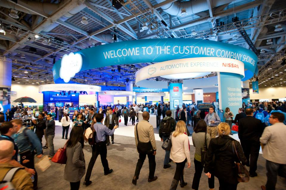 Salesforce trade show booth