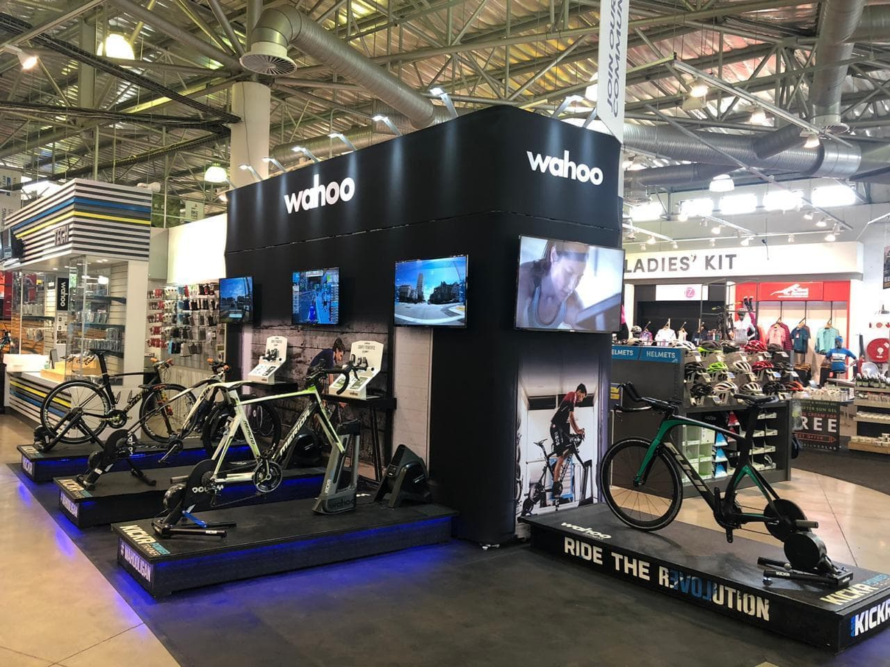 Exhibition stand for a cycling company built with TRIGA