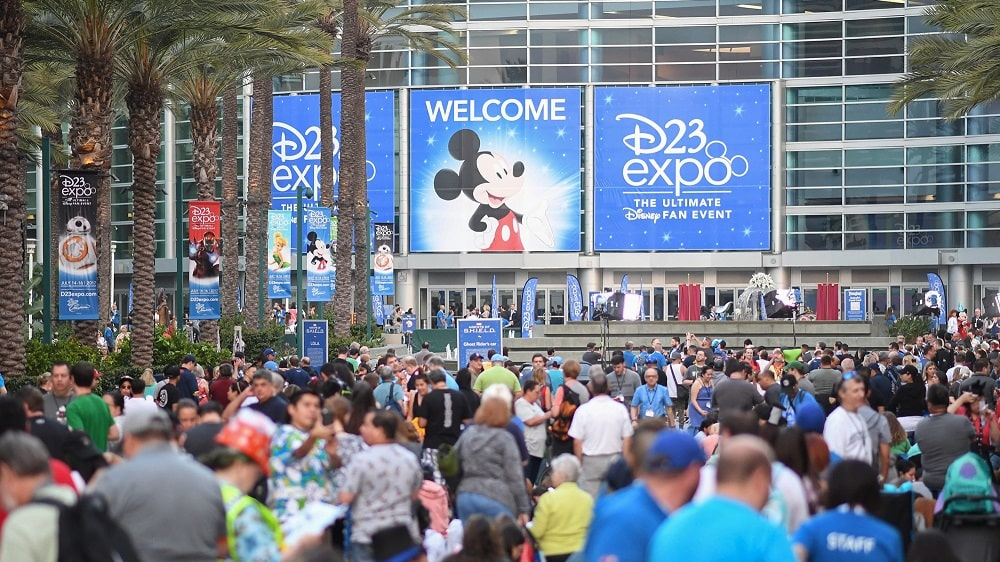 D23 expo entrance signage
