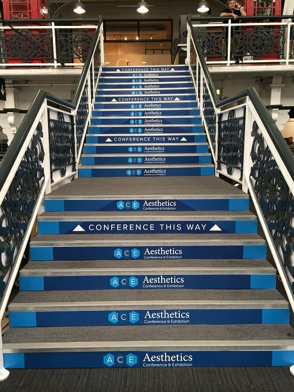 Stair wraps at Aesthetics Conference and Exhibition