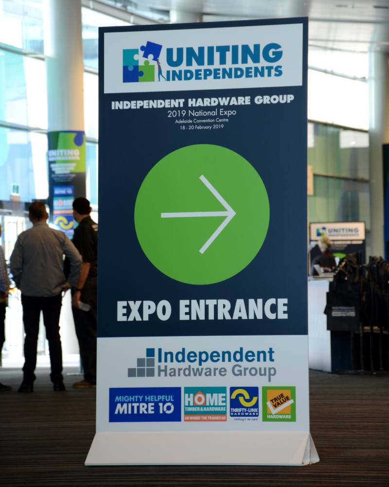Directional signage at IHG Expo