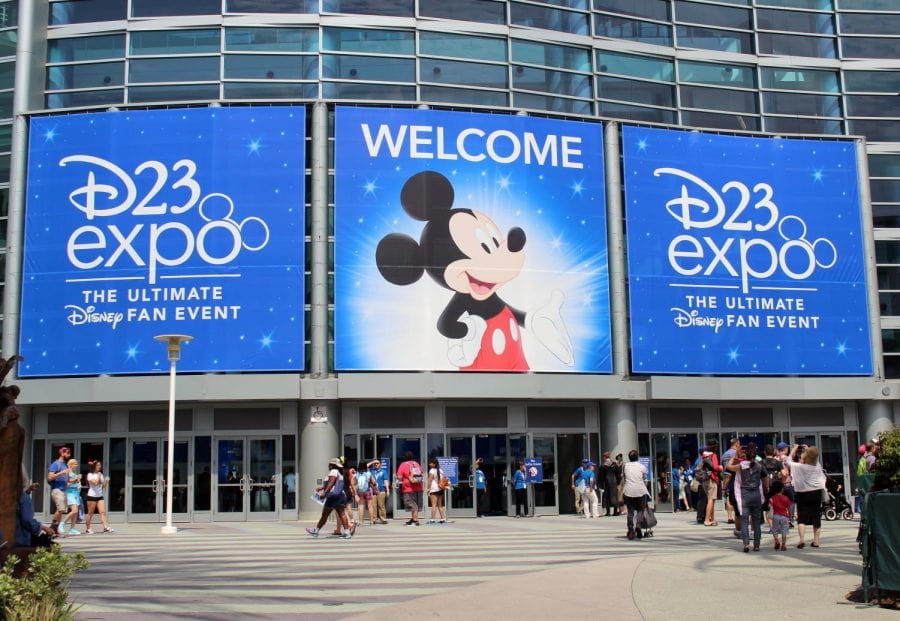 Entrance signage at D23 expo